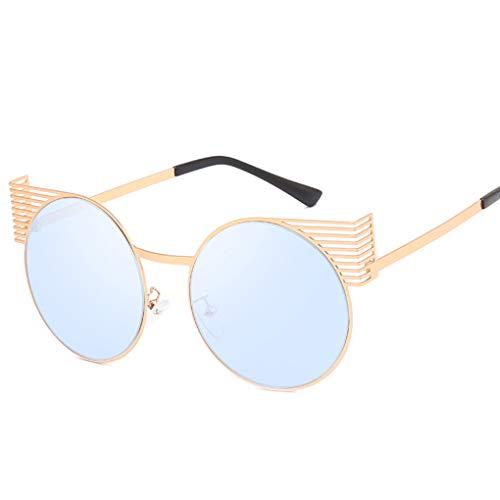 Idyandyans Frauen Männer Persönlichkeit Runde Sonnenbrille Metallrahmen Mädchen Jungen Brillen Brillen UV400 Schutz