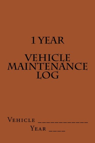 1-year-vehicle-maintenance-log-brown-cover