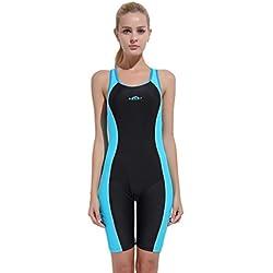 KPILP Combinaison Maillot de Bain Costume de Surf - Sbart Femme Coupe Slim Les Sports Maillot de Bain S-3XL (Bleu Ciel,S)