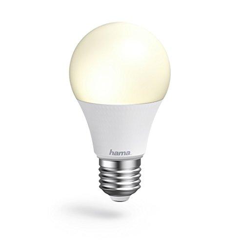 Hama E27 Wi-Fi LED-Lampe, 10 W, ohne Hub, dimmbar, gesteuert via Alexa/Google Home/App/IFTTT, 2,4GHz, warm-/neutral-/tageslichtweiß, WLAN Lampe, Echo/Echo Dot/Echo Spot/Echo Plus/Echo Show kompatibel
