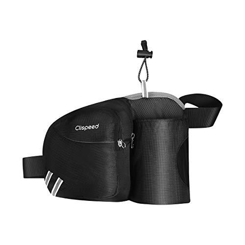 Clispeed Hüfttaschen Gürteltasche Taille Tasche mit Flaschenhalter für Damen Herren Laufen Radfahren Wandern - Flaschenhalter Bauchtasche Mit