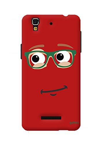 Gobzu Printed Back Covers for Micromax YU Yureka Plus - Red Smiley