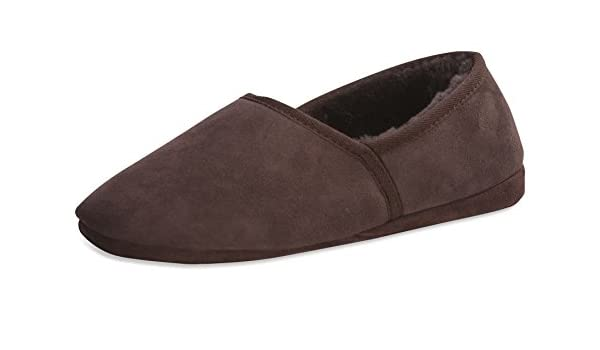 bf03b2ed38d5 Nordvek Sheepskin Slippers Mens - Made from One Piece - Soft Suede Sole    461-100  Chocolate   6 UK (39 EU)   Amazon.co.uk  Shoes   Bags