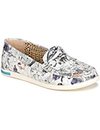 VAPH Women Misty Floral Loafers Shoes Genuine Leather Casual Slip-on Flat Loafers Shoes