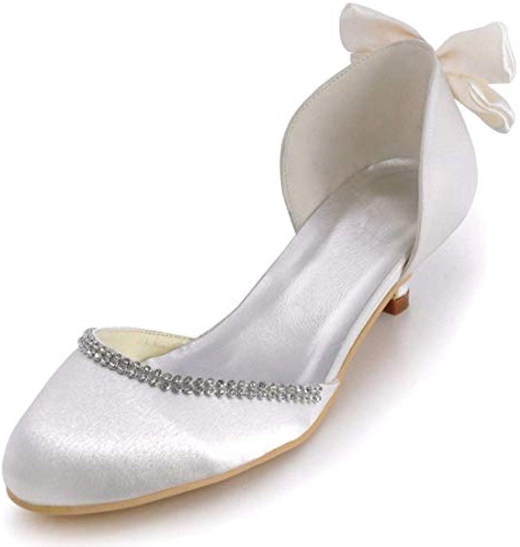 ZHRUI Ladies Bowknot 2 Heel Satin D-Orsay Scarpe da Sposa da Sposa (Coloreee   bianca-5cm Heel, Dimensione   7 UK) | Prezzi Ridotti  | Uomo/Donne Scarpa