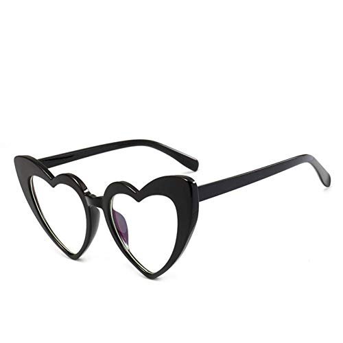 AMXZP Sonnenbrille Herz Sonnenbrille Damen   Cat Eye Sonnenbrille Retro Love Heart Shaped Glasses Ladies Sunglass UV400