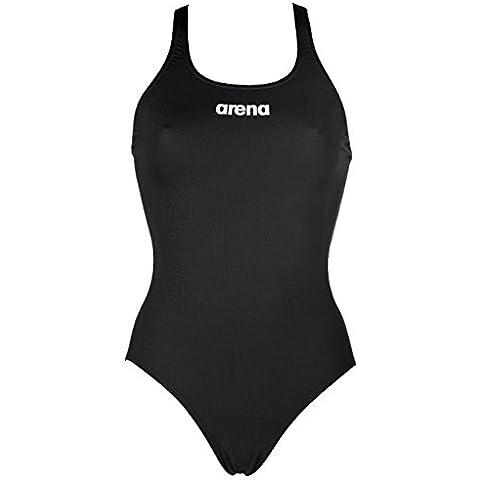 Arena Mujer Sólido Pro de bañador para mujer, color negro/blanco, 102cm)
