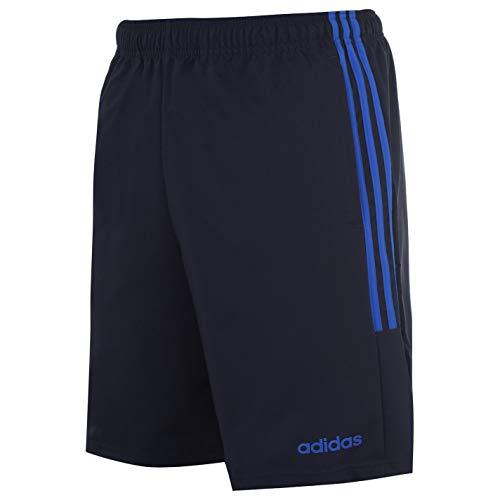adidas Essentials 3-Stripes Herren Chelsea Athletic Laufshorts (Navy/Solar Blue, M)