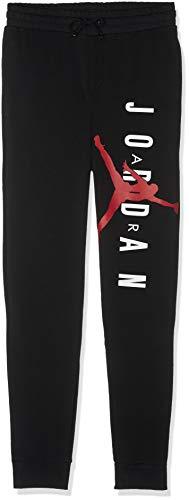 Nike Herren Jumpman AIR LWT FLC Pant Black/Gym Red, M (Herren-jordan Jogginghose)