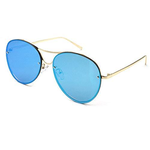 WUJIEXIAN-JXL Pilot-Stil Ellipse Frog Mirror Alloy Full-Frame-Persönlichkeit Sonnenbrille Vielseitige Sonnenbrille Outdoor-Brille (Color : E) -