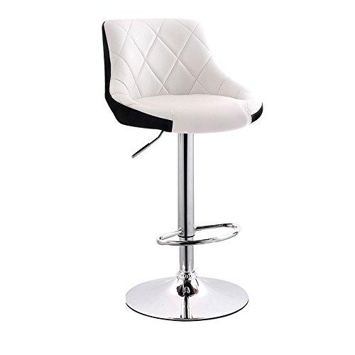 JDⓇ Hoher Rückenlehne-Barhocker-Küchen-Frühstück, das Stuhl speist, kann auf und ab Schwenk-Stuhl mit PU-Leder-Rückenlehne-einfacher europäischer Art aufheben (Farbe : A) - Schwenk Hoch Hocker
