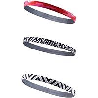 HYSENM Stirnband 3 Stück Damen / Herren Bunt Weich Feuchtigkeits-aufnehmen Schweißband Kopfband für Sport Joga Headband