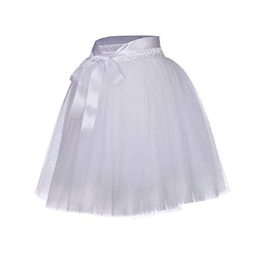 Röcke Frauen 7 Schichten Midi Tüll Rock Mode Tutu Röcke Frauen Ballkleid Party Petticoat