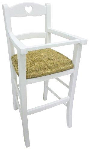 Sediolone sgabello sedia seggiolone bimbo lusso in legno bianco