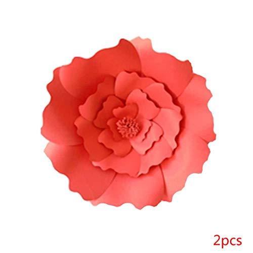 Topker 1pcs / 2ST 20cm 30cm DIY Papierblumen-Kinder Foto Hintergrund Künstliche Blumen Hochzeit Geburtstag Party-Ausgangswand-Dekoration