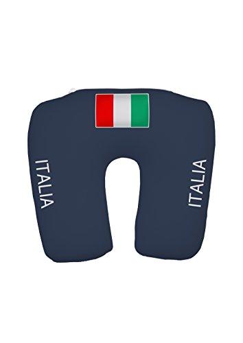 travelstar TS-F-1002 2-in-1 EM Fanartikel Trikot-Nackenkissen Italien, Football-Shirt Neck Pillow Italy