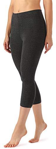 Merry Style Damen Leggings 3/4 MS10-144(Dunkelmelange, 42 (Herstellergröße: XL))