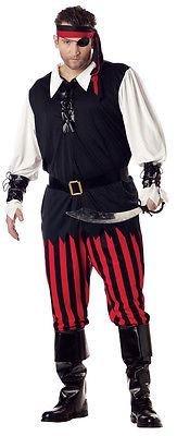 California Costumes 01611 - Piratenkostüm für Herren Pirat Seeräuber Freibeuter Kostüm Übergröße (Size Kostüme Herren Piraten Plus)