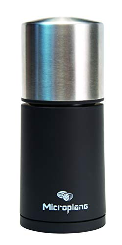Microplane Molinillo para Especias, Acero Inoxidable, Negro, 5x5x12 cm