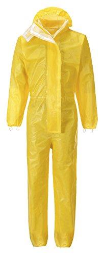 Einweg-Schutzanzug BizTex gelb Chemikalien Schutzoverall Typ 3/4/5/6 (XXL)