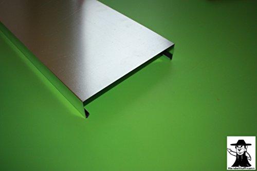 Mauerabdeckung 2 m lang Aluminium Natur 1,5 mm (klein)