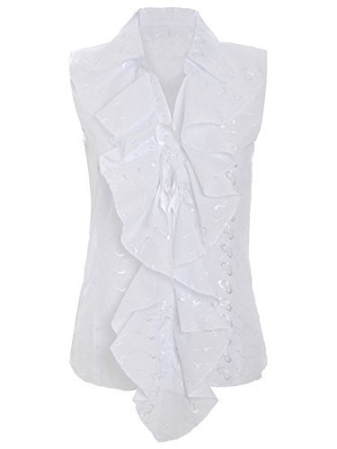 chaos-theory-womens-gypsy-top-ruffle-shirt-front-lace-tie-white-uk-10