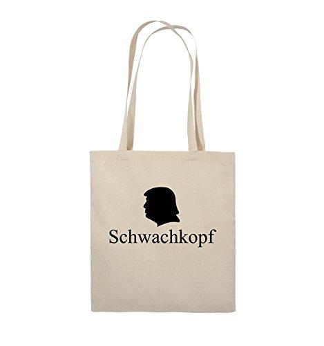 TRUMP Farbe Schwarz Henkel Comedy 38x42cm Bags lange Natural Schwarz Jutebeutel Schwachkopf Pink SwFqwA