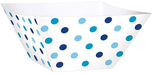Amscan 147001azul bufé de papel cuadrado cuencos