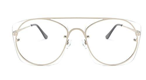 KnSam Polarisierte UV400 Schutz Ultraleicht Rahmen Quadrat Unisex Transparentes Silber Sonnenbrillen Fahrerbrille