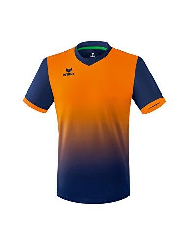 Erima Kinder Trikot Leeds, New Navy/Neon Orange, 140