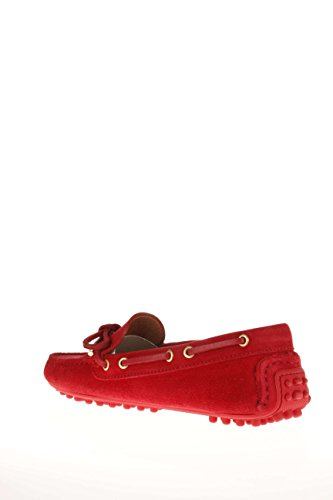 Trussardi Jeans Femme Mocassino fonds caoutchouc 79S120 35 Mocassino fonds picots Rouge - rouge