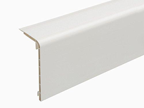 Hart-PVC-Rohrverkleidungsleiste 45x110mm in 2 Meter - Weiß