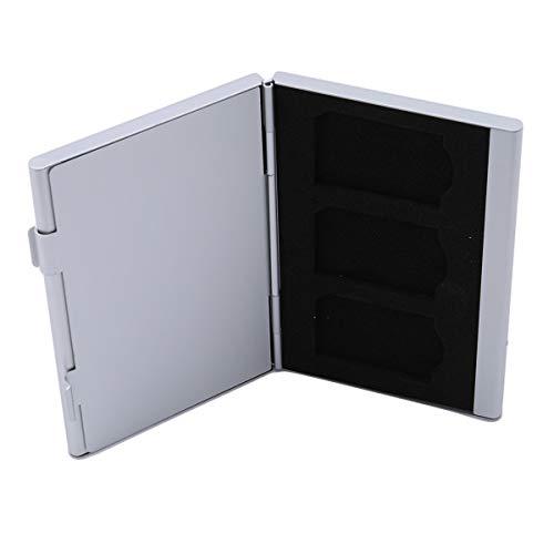 Beiswin Speicherkartenkoffer Aluminiumlegierung Micro SD TF Speicherkarten Aufbewahrungstasche 4xSD Karte & 8xMicro SIM Karte (Silber)