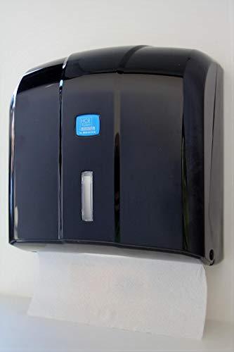 HCR Hygiene Handtuchspender, Papierhandtuchspender, in edlem schwarz