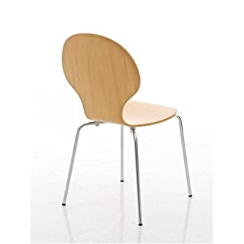 Your Price Furniture.com Kimberley Dining Set Natural Table and 2 Natural Chrome Metal Keeler Style Stackable Dining Chairs - Kitchen Cafe Bistro Chairs & Small Round Table