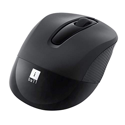 iBall Freego G100 Wireless Optical Mouse for Windows and Mac (Black)