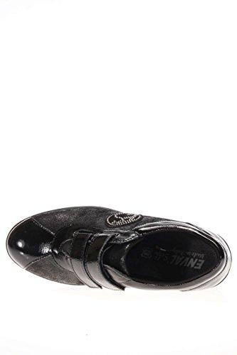 ENVAL softh Damen das Boden Keilabsatz D Ro 16986schwarz Das mit Klettverschluss Boden Keilabsatz Schwarz