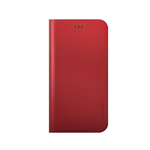 iPhone 6S Plus Fall, araree® [das Original] Premium Echtleder Wallet Case Flip Cover Mit Kreditkarte ID Halter für Apple (2015) VELVET RED