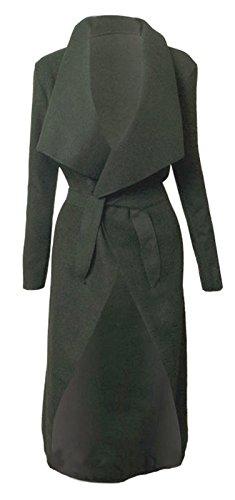 Italien cascade Kim KARDASHIAN CELEBRITY Jewellery Manteau Veste longue ceinture, Cape Cardigan femme Noir - Charbon