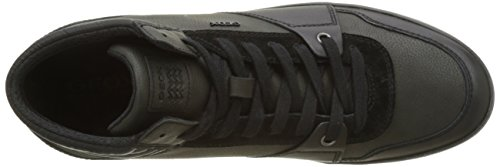 Geox Herren U Box J Hohe Sneaker Schwarz (Black)