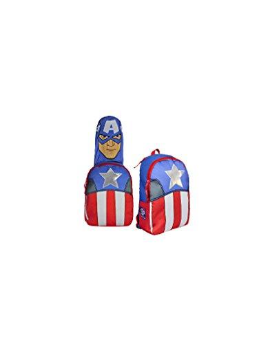 Hogar y Mas Rucksack mit Kapuze mit dem Gesicht des Captain America