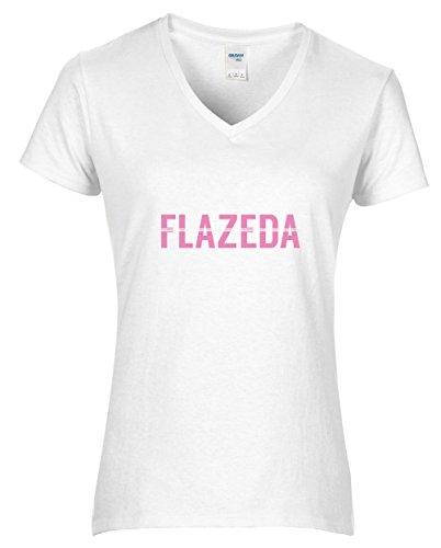 Hippowarehouse Flazeda Womens V-Neck Short Sleeve t-Shirt (Specific Size Guide In Description)