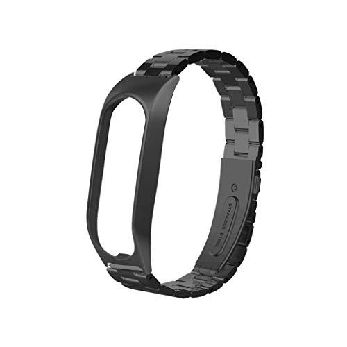 kompatible Tomtom Touch Edelstahl Armband,Solid Edelstahl Metall Ersatzarmband Uhrenarmbänder Replacement Watch Metall Ersatz Uhrenarmband Band Strap (Schwarz)