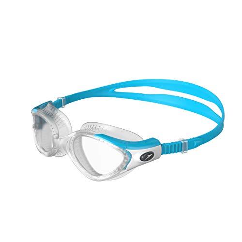 Speedo Damen Futura Biofuse Flexiseal Female Goggles, Turquoise/Clear, One Size