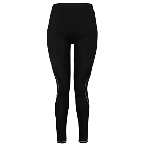 GoVIA Damen Laufhose Training Leggings streche Fitness Yoga Sporthose 4101 Grau