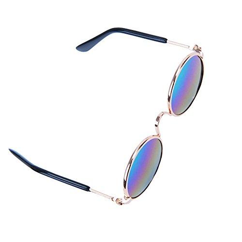 Katze Hund Tier Sonnenbrille Schutzbrillen Hundewelpen Runde Brille Mini (bunt)