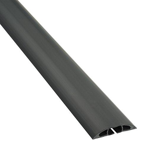 D-Line Fussboden Kabelkanal Stolperschutz CC-1,Kabelbrücke, 60mm breit x 1,8m Länge, Light Duty Boden Kabelschutz - Schwarz