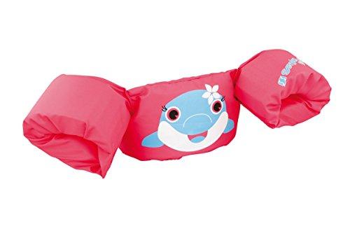 Sevylor Schwimmflügel Puddle Jumper, für Kinder und Kleinkinder von 2-6 Jahre, 15-30kg, Schwimmscheiben, pink, Delfin