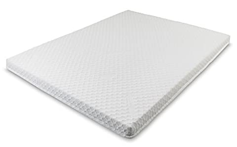 Snug Memory foam Mattress Topper V50 Silver with Coolmax zipped cover 5cm / 2