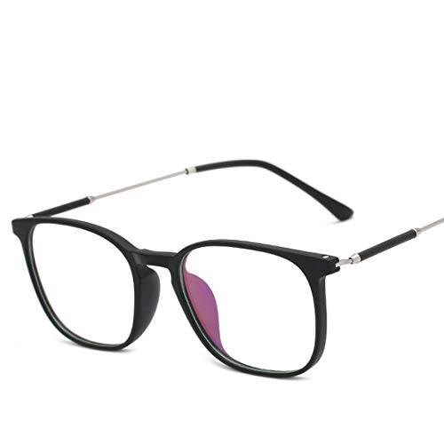 Ovesuxle Brillenmänner und -Frauen allgemeine Computeraugenschutzbrille der Art und Weise des Metallrahmens Blaue (Color : Matte Black)